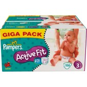 Couches Pampers Active Fit Taille 3 Midi (4-9 Kg) Giga Pack X150 (81337210)