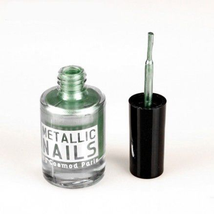Vernis À Ongles Metallic Couleur Vert Beach Cosmod