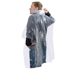 Poncho Imperm�able Jetable Transparent Unisex