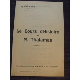 """""""Cours d'Histoire de M.Thalamas""""Paroles chanson satirique et Politique sur l'affaire Thalamas(1904/1908)"""