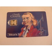T�l�carte 50 Unit�s Le Grandes Figures Des T�l�communications Claude Chappe (1763-1805) 2 000 000 Ex.