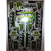 Planche D�co 13 Autocollants Stickers Monster Energy 45x30