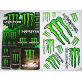 Lot 2 Planches Autocollantes Stickers Monster Energy