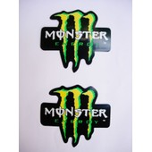 Lot 2 Stickers Monster Energy Neufs