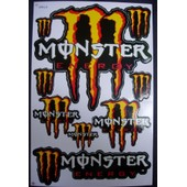 Planche Autocollante Stickers Monster Energy 9 Pieces