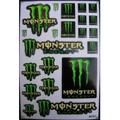 Planche Autocollants Stickers Monster Energy + De 20 Pieces - Modele 2