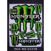 Planche Autocollant Stickers Monster Energy - Format Maxi 35 X 27 Cm