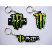 Porte Cle Cles Clefs Monster Energy - Lot De 3