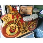 Rare Moto De Man�ge Forain 1937