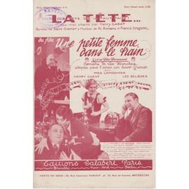 """La Tête Qu'Il Faut Faire (Fox-Trot de Al. Romans tiré du film """"Une Petite Femme dans le train"""")"""