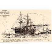 Cp1859 Ligue Maritime Francaise La Fregate Cuirassee La Gloire Illustree Par Albert Sebille 1908