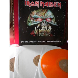 iron maiden final frontier in oberhausen n°29/117.  3 lp orange + poster + livre