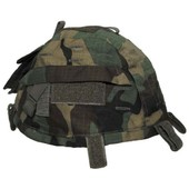 Couvre Casque Camouflage Woodland Reglable Avec Poches