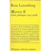 Oeuvres 2 de rosa luxembourg