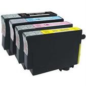 Cdiscount - Pack De 4 - Noir, Jaune, Cyan, Magenta - Cartouche D'encre (�quivalent � : Epson T1295 ) - Pour Epson Stylus Sx230, Sx430, Sx438; Workforce Wf-3010, 3520, 3530, 3540, 7015, 7515, 7525