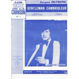 """Jacques DUTRONC """" Gentleman cambrioleur"""""""