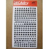 Planches De Lettres Transfert Decadry Lot De 2 . 5mm N� 3