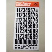 Planches De Chiffres Transfert Decadry Lot De 2.24mm N�208