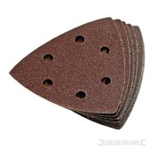 10 Feuilles Abrasives Triangulaires Auto-Agrippantes 90 Mm Grain 60