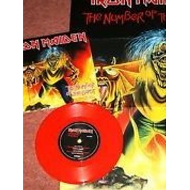 iron maiden the Number of the Beast 2005 UK. ROUGE.vinyle + poster (limited edition) LP 7