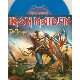 iron maiden the trooper 2005 EMI EM662  VINYLE BLEU + POSTER  LP7 (limited edition) LP 7