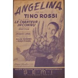 RARE PARTITION TINO ROSSI ANGELINA DU FILM LE CHANTEUR INCONNU
