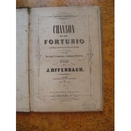 """Partition complète et Texte """"La chanson de Fortunio"""" de J.Offenbach-piano et chant"""