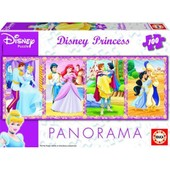 Puzzle 100 Pi�ces Panoramique - Princesses Disney