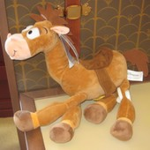 Peluche Pile Poil Cheval Woody Disney Toy Story 35cm Disneyland