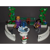 Playmobil Jardin Royal Prince Princesse Fontaine Banc Fleur Colombe Chateau
