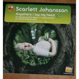 RARE PLV CARTONNEE 30X30CM MAGNETIQUE SCARLETT JOHANSSON ANYWHERE I LAY MY HEAD MAGASINS FNAC
