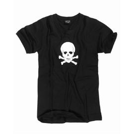 Tee Shirt M. Druck Noir Manches Courtes Imprime Tete De Mort Devant