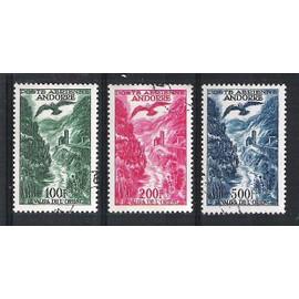 andorre français, 1955-1957, poste aérienne, paysage (le valira de l