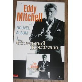 RARE PLV CARTONNEE SOUPLE OFFICIELLE EDDY MITCHELL 30X50CM GRAND ECRAN