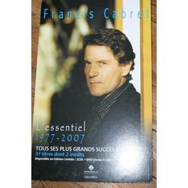 RARE PLV CARTONNEE RIGIDE OFFICIELLE 30X50 CM FRANCIS CABREL L'ESSENTIEL 1977/2007