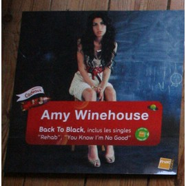 RARE PLV SOUPLE PLASTIFIEE 30X30CM AMY WINEHOUSE BACK TO BLACK MAGASINS FNAC