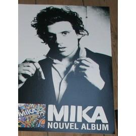 RARE PLV SOUPLE CARTONNEE OFFICIELLE 30X50CM MIKA 2eme ALBUM