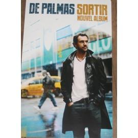 RARE PLV CARTONNEE SOUPLE OFFICIELLE 30X50 CM GERALD DE PALMAS ALBUM SORTIR