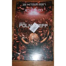 RARE PLV CARTONNEE RIGIDE OFFICIELLE 30X50CM MICHEL POLNAREFF ZE ( re ) TOUR 2007