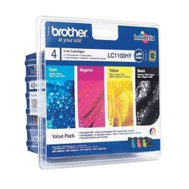 Pack Cartouches Encre Lc1100hy - Cyan, Magenta, Jaune, Noir