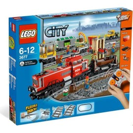 Lego 3677 - City : Train de marchandises rouge