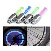4 Valves Lumineuse Led Securit� Moto Velo Voiture Quad Tuning