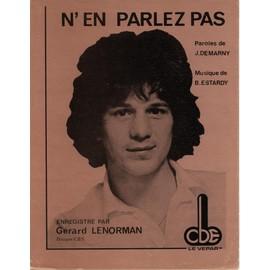 GERARD LENORMAN PARTITION N'EN PARLEZ PAS