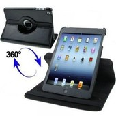 Etui Housse Coque Ipad Mini - Support 360� Noir Ipad Mini + 3 Films Protection