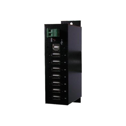 Hub USB 2.0, pour environnement industriel,7 ports design industriel compact, port USB-B (côté ...