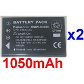 2 Batteries Pour Ricoh DB-40 Fuji NP60 NP-60 Casio NP30 KLIC5000 KLIC-5000 D-LI2 DL12 *1050mAh*