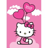 Tapis Pas Cher Hello Kitty Ballon Rose 95x133 En Polypropyl�ne De Un Amour De Tapis
