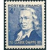 France 1944 Claude Chappe N� 619 Neuf Sans Charni�re