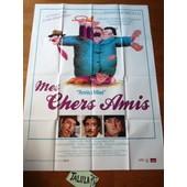 Mes Chers Amis De Mario Monicelli Avec Ugo Tognazzi - Affiche Originale De Cin�ma 120 X 160 Cm