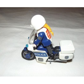 playmobil moto police d 39 occasion 77 vendre pas cher. Black Bedroom Furniture Sets. Home Design Ideas